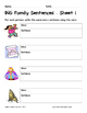 Literacy Interactive Notebook Pages - ING Word Family
