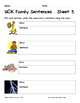Literacy Interactive Notebook Pages - UCK Word Family