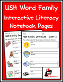 Literacy Interactive Notebook Pages - USH Word Family