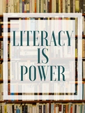 Literacy Is Power Poster