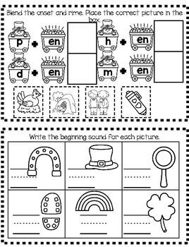 Literacy Journal- March- for PreK and Kindergarten