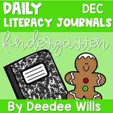 Literacy Journal Prompts for Kindergarten | Dec