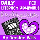 Literacy Journal Prompts for Kindergarten | Feb