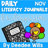 Literacy Journal Prompts for Kindergarten | Nov