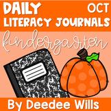 Literacy Journal Prompts for Kindergarten | Oct