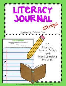 Literacy Journal Strips
