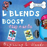 Beginning L Blends Clip Cards - bl cl fl gl sl