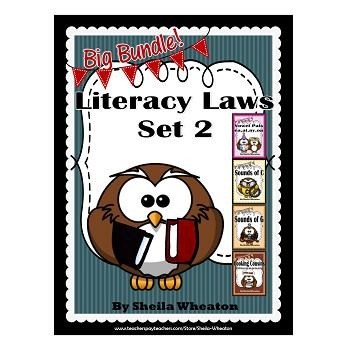 Literacy Laws Bundle - Set 2:  Reading & Writing Tools for Young Students