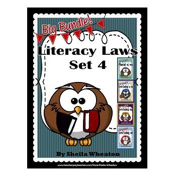 Literacy Laws Bundle - Set 4:  Reading & Writing Tools for