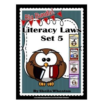 Literacy Laws Bundle - Set 5:  Reading & Writing Tools for Young Students