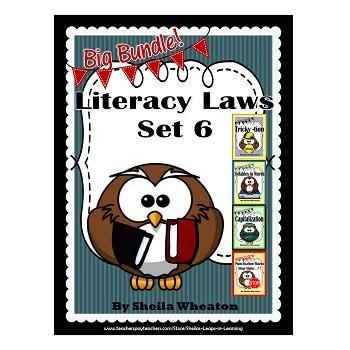 Literacy Laws Bundle - Set 6:  Reading & Writing Tools for Young Students