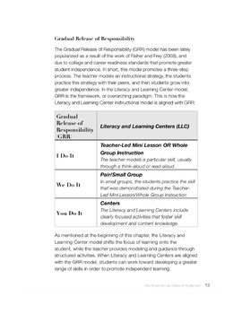 Literacy & Learning Centers: Content Area and Disciplinary Literacy Tools (4-12)