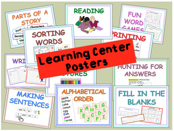 Literacy Learning Centre Activities Part B - 243 Pages