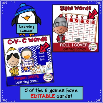 Literacy Learning Games - Penguin Theme