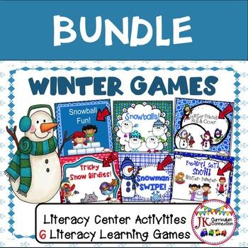 Literacy Learning Games BUNDLE - Winter Theme