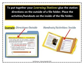 Literacy Learning Stations
