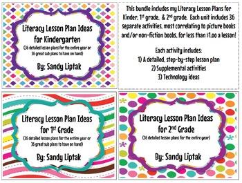 Literacy Lesson Plan Bundle K-2