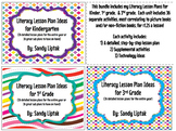 Literacy Lesson Plan Bundle K, 1, and 3: Special bundle for Barbara