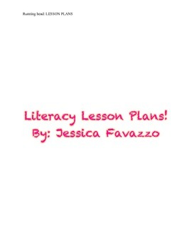 Literacy Lesson Plans