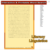 Literacy Linguistics Interactive Word Search