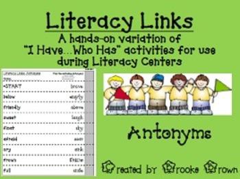 """Literacy Links"" - Antonyms (Literacy Center Activity)"