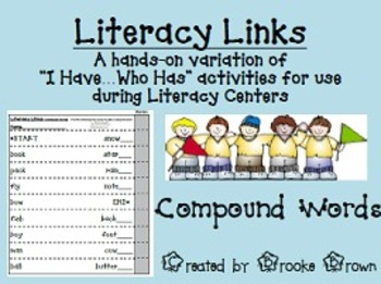 """Literacy Links"" - Compound Words (Literacy Center Activity)"