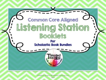 Reading and Listening Response Booklets-CCSS aligned For Any Book