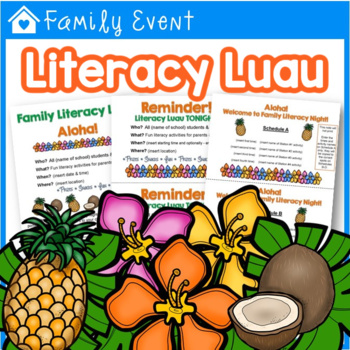 Literacy Luau Family Night - Customize it with Fillable Forms!