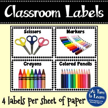 Classroom, Art, and Literacy Manipulative Picture Labels