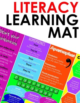 Literacy Mat - Includes Homophones, Connectives, Figurative Language and More!