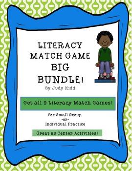 Literacy Match Game Big Bundle