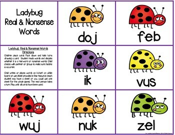 Literacy & Math Centers:  April--Easter, Ladybugs & Earth Day