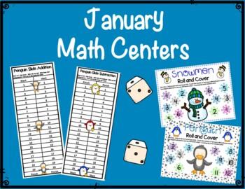 Literacy & Math Centers:  January--Penguins & Snowmen