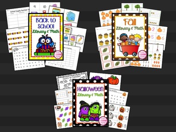 Literacy & Math Centers MEGA Bundle