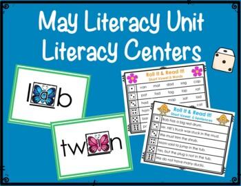 Literacy & Math Centers: May--Flowers & Butterflies