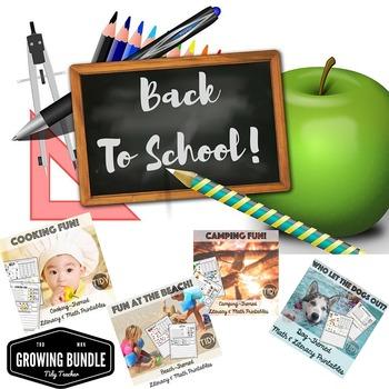 Literacy & Math Printables/Worksheet Growing Bundle for Firsties!