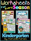 LITERACY AND MATH WORKSHEETS BUNDLE FOR THE ENTIRE YEAR- KINDERGARTEN