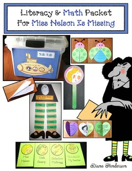 Miss Nelson Is Missing Literacy & Math Activites: Great  For Sub Plans