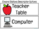Literacy/Math Stations Labels and Video