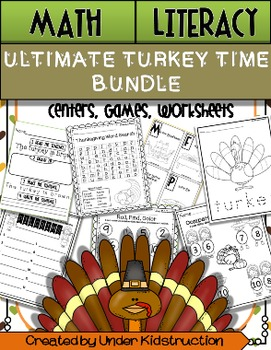 Literacy; Math; Ultimate Turkey time Bundle