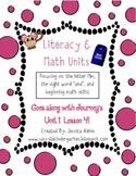 Literacy & Math Unit-M Sound, Beginning Math, Journey's