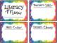 Literacy Menu Board