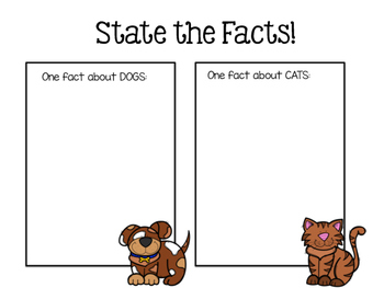 Literacy Mini Lesson: Dogs vs. Cats