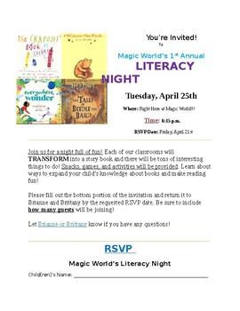 Literacy Night Invitation