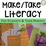 Literacy Night Make and Take Parent Involvement Editable Grades 3-5