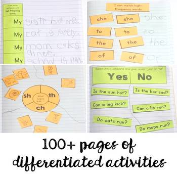 Literacy Notebooks: Phonics and Fluency