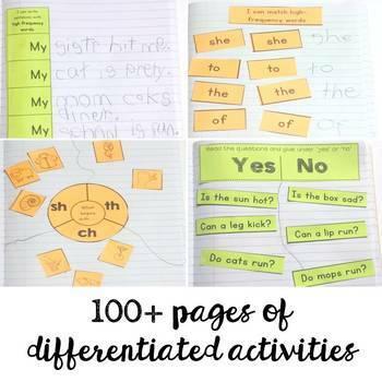 Literacy Notebooks: Phonics and Fluency