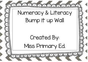 Literacy & Numeracy Bump it up Wall Chevron
