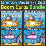 Literacy Ocean Summer Boom Cards Bundle (Alphabet, CVC Wor