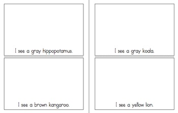 Literacy Pack: Zoo Animals - Vocabulary cards, Sight Word Books and Game Cards
